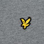 Мужское поло Lyle & Scott Pique Jersey Mid Grey Marl фото- 2