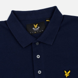 Мужское поло Lyle & Scott Plain Pique Jersey Regular Fit Navy фото- 2