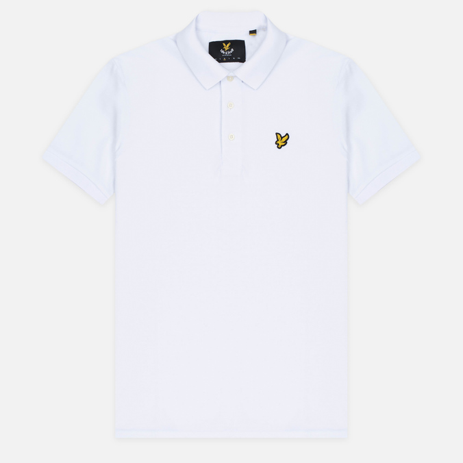 Мужское поло Lyle & Scott Plain Pique Jersey Regular Fit White
