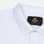 Мужское поло Lyle & Scott Plain Pique Jersey Regular Fit White фото- 1