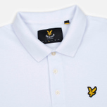 Мужское поло Lyle & Scott Plain Pique Jersey Regular Fit White фото- 2