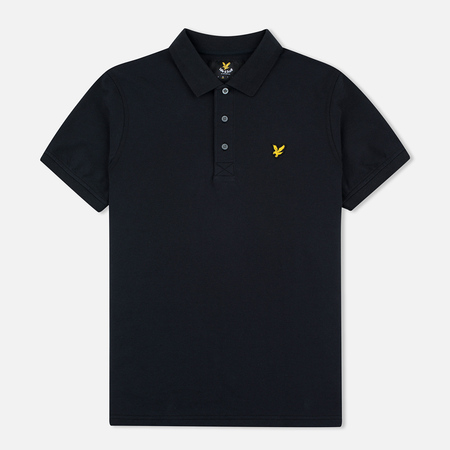 Lyle & Scott Pique Jersey Men's Polo True Black