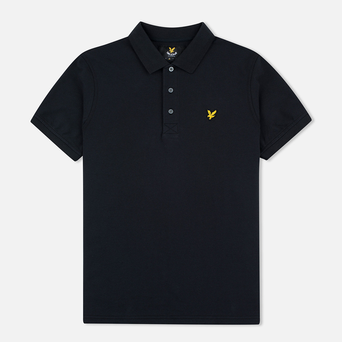 Мужское поло Lyle & Scott Pique Jersey True Black