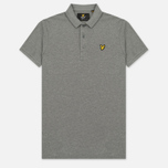 Мужское поло Lyle & Scott Plain Pique Jersey Regular Fit Mid Grey Marl фото- 0