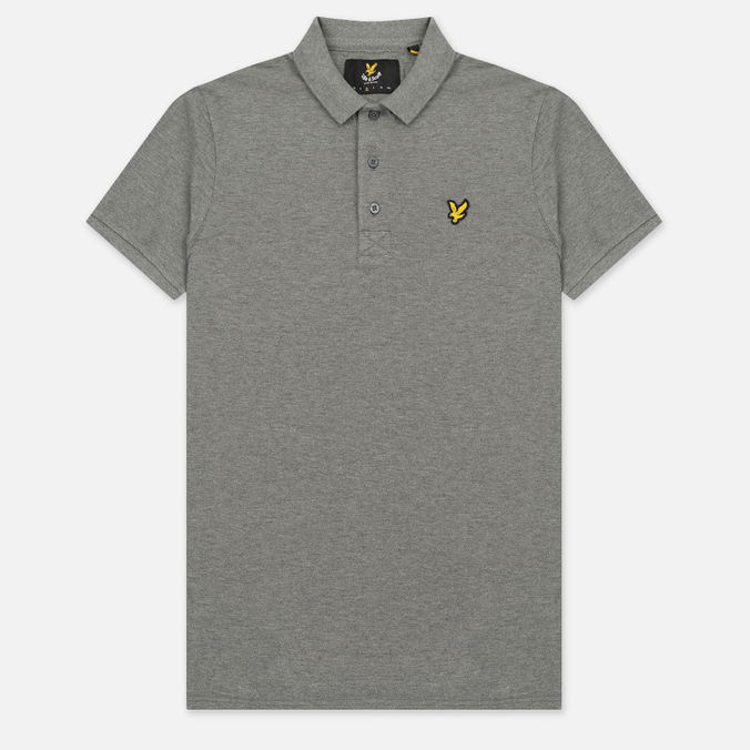 Мужское поло Lyle & Scott Plain Pique Jersey Regular Fit Mid Grey Marl
