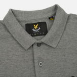 Мужское поло Lyle & Scott Plain Pique Jersey Regular Fit Mid Grey Marl фото- 1