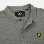 Мужское поло Lyle & Scott Plain Pique Jersey Regular Fit Mid Grey Marl фото- 3