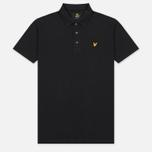 Мужское поло Lyle & Scott Plain Pique Jersey Regular Fit True Black фото- 0