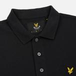 Мужское поло Lyle & Scott Plain Pique Jersey Regular Fit True Black фото- 1