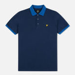 Мужское поло Lyle & Scott Space Dye Collar Navy фото- 0