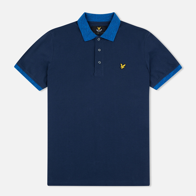 Мужское поло Lyle & Scott Space Dye Collar Navy
