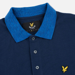 Мужское поло Lyle & Scott Space Dye Collar Navy фото- 1