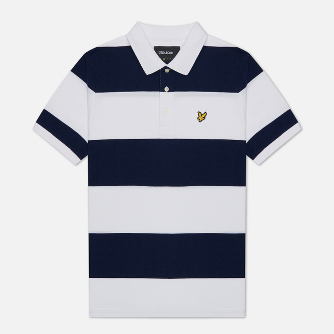 Мужское поло Lyle & Scott Wide Stripe Navy