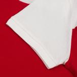 Мужское поло Maison Kitsune Bicolor White/Red фото- 4