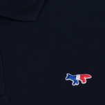Мужское поло Maison Kitsune Tricolor Fox Patch Navy фото- 2