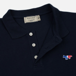 Мужское поло Maison Kitsune Tricolor Fox Patch Navy фото- 1