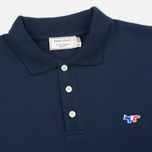 Maison Kitsune Tricolor Fox Patch Men's Polo Navy photo- 1