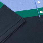 Мужское поло Maison Kitsune Tricolor Patch Navy/Green/Blue фото- 4