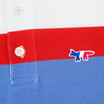 Мужское поло Maison Kitsune Tricolour Patch Sky фото- 3