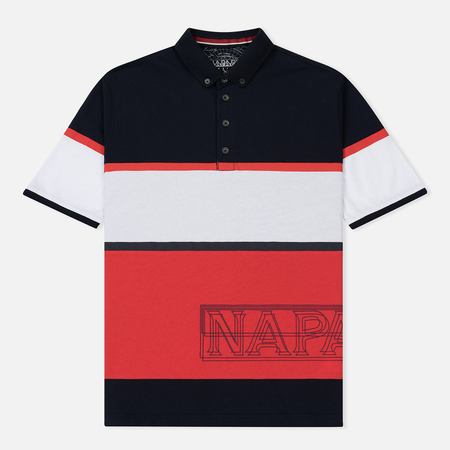 Мужское поло Napapijri Erip Stripe Navy/Red/White