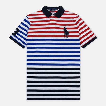 Мужское поло Polo Ralph Lauren All Over Stripe Aviator Navy/Multicolor