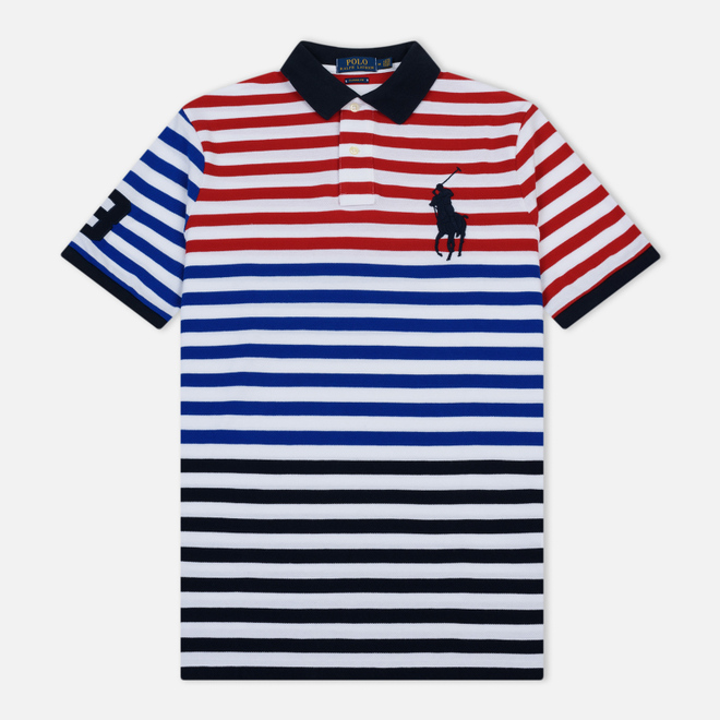 Мужское поло Polo Ralph Lauren All Over Stripe Aviator Navy/Multicolor