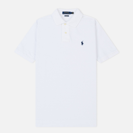 Мужское поло Polo Ralph Lauren Basic Mesh White