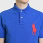 Мужское поло Polo Ralph Lauren Big Logo Embroidered And Patch 3 Custom Slim Fit Blue Saturn фото - 3