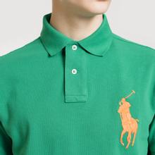 Мужское поло Polo Ralph Lauren Big Logo Embroidered And Patch 3 Custom Slim Fit Kayak Green фото- 2