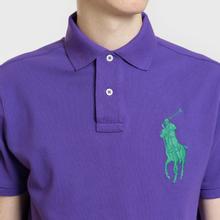 Мужское поло Polo Ralph Lauren Big Logo Embroidered And Patch 3 Custom Slim Fit Purple Rage фото- 3