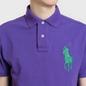 Мужское поло Polo Ralph Lauren Big Logo Embroidered And Patch 3 Custom Slim Fit Purple Rage фото - 3