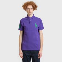 Мужское поло Polo Ralph Lauren Big Logo Embroidered And Patch 3 Custom Slim Fit Purple Rage фото- 1