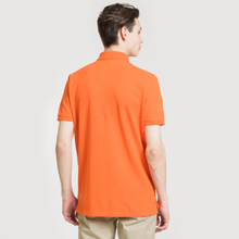 Мужское поло Polo Ralph Lauren Big Logo Embroidered And Patch 3 Custom Slim Fit Sailing Orange фото- 3