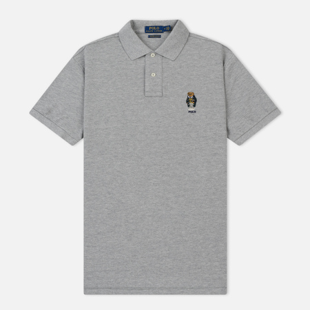 Мужское поло Polo Ralph Lauren Classic Fit Bear Basic Mesh Andover Heather