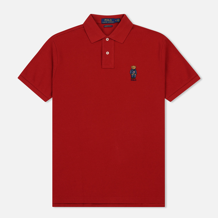 Мужское поло Polo Ralph Lauren Classic Fit Bear Basic Mesh Bright Red