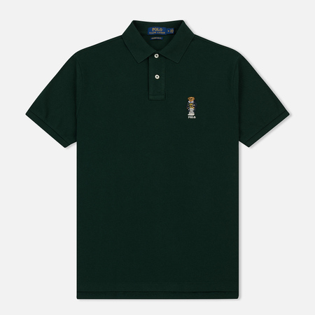 Мужское поло Polo Ralph Lauren Classic Fit Bear Basic Mesh College Green