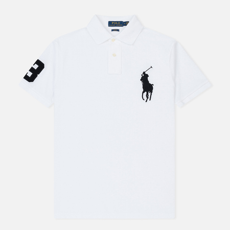 Мужское поло Polo Ralph Lauren Classic Fit Big Pony White