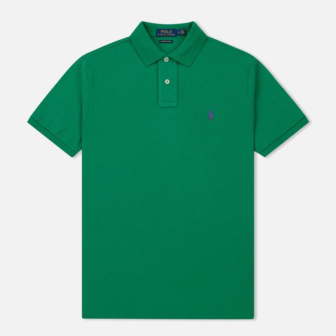 Мужское поло Polo Ralph Lauren Classic Logo Basic Mesh Billiard