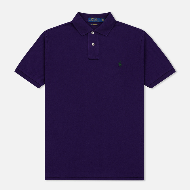 Мужское поло Polo Ralph Lauren Classic Logo Basic Mesh Branford Purple