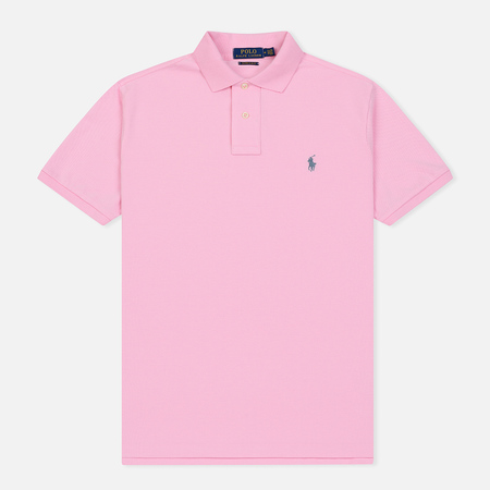 Мужское поло Polo Ralph Lauren Classic Logo Basic Mesh Carmel Pink