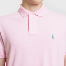 Мужское поло Polo Ralph Lauren Classic Logo Basic Mesh Carmel Pink фото- 2