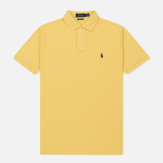 Мужское поло Polo Ralph Lauren Classic Logo Basic Mesh Fall Yellow