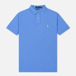 Мужское поло Polo Ralph Lauren Classic Logo Basic Mesh Harbor Island Blue фото- 0