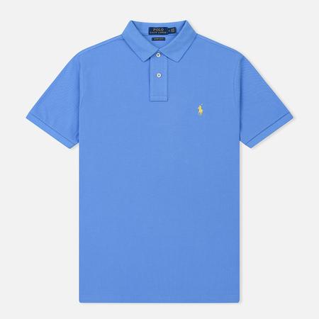 Мужское поло Polo Ralph Lauren Classic Logo Basic Mesh Harbor Island Blue
