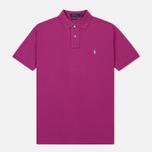 Мужское поло Polo Ralph Lauren Classic Logo Basic Mesh Royal Magenta фото- 0