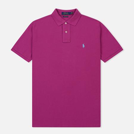 Мужское поло Polo Ralph Lauren Classic Logo Basic Mesh Royal Magenta
