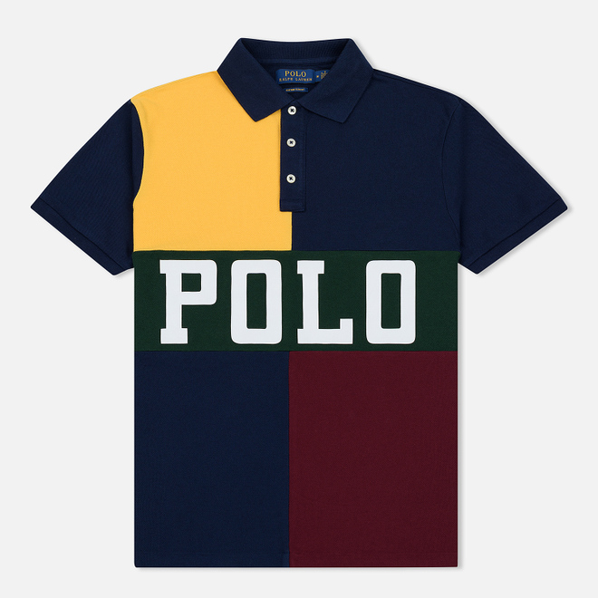 Мужское поло Polo Ralph Lauren Color Block Gold Bugle/Multicolor