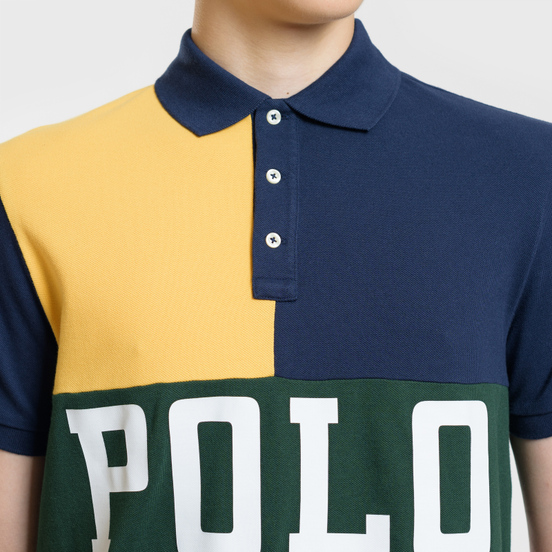 Мужское поло Polo Ralph Lauren Color Block Gold Bugle/Multicolor