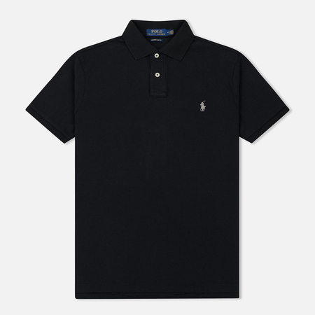 Мужское поло Polo Ralph Lauren Custom Slim Fit Cotton Mesh Black