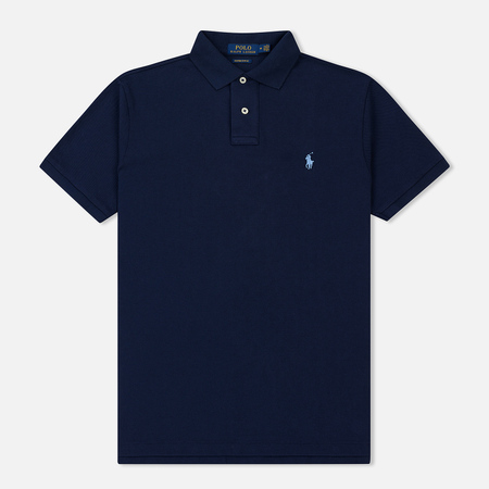 Мужское поло Polo Ralph Lauren Custom Slim Fit Cotton Mesh Newport Navy